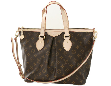 Louis Vuitton LOUIS VUITTON Monogram Palermo PM handbag dark brown M40145