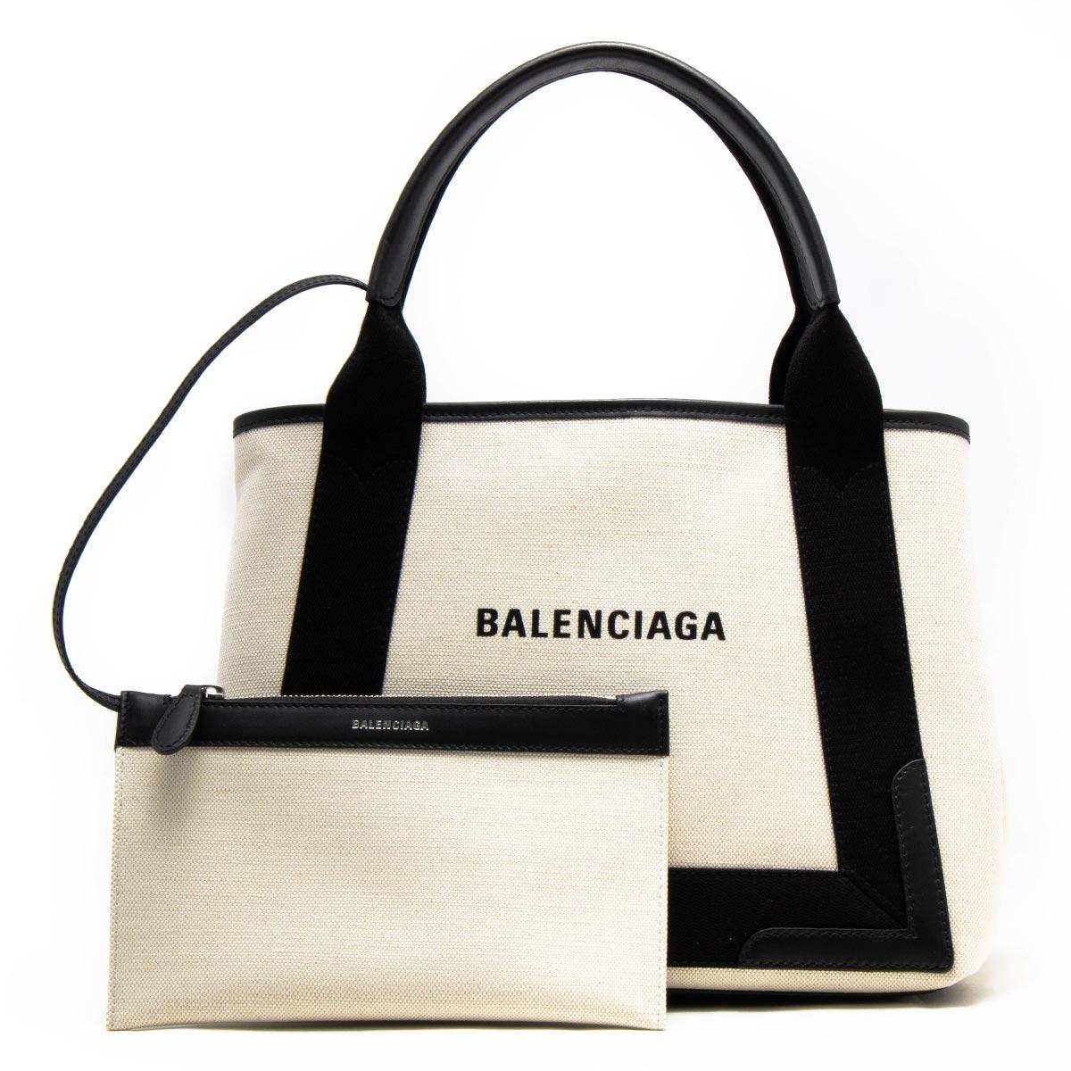 バレンシアガ トートバッグ バッグ レディース ネイビーカバス S ナチュラル&ブラック 339933 AQ38N 1081 BALENCIAGA