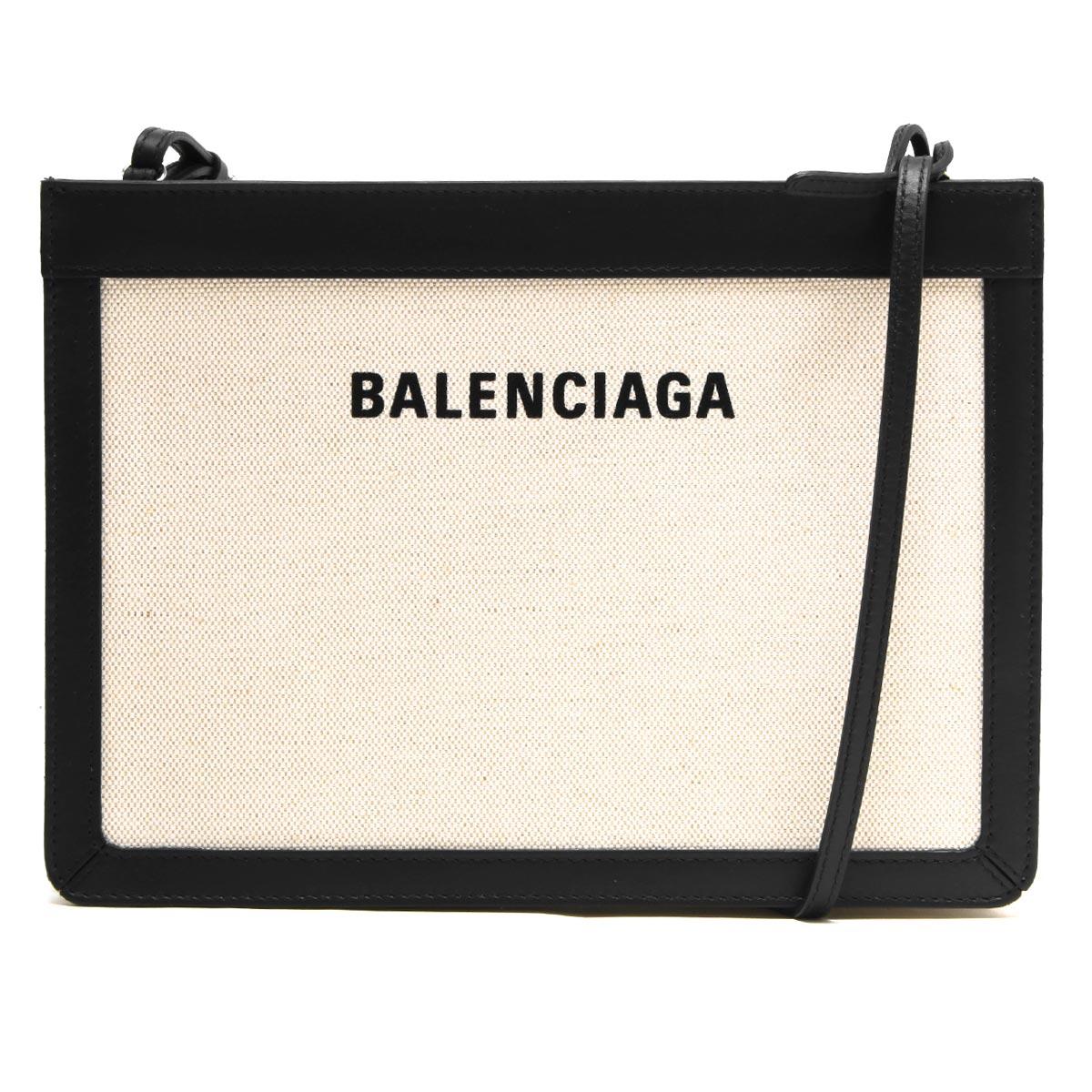 バレンシアガ ショルダーバッグ バッグ レディース ネイビーポシェット ナチュラル&ブラック 339937 AQ37N 1080 BALENCIAGA