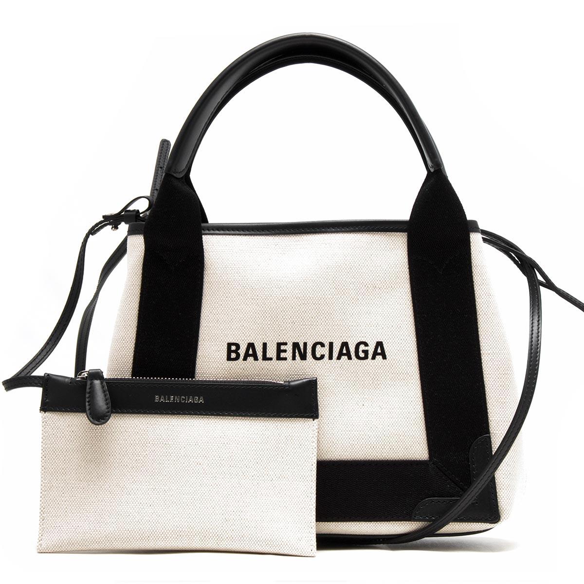 [送料無料][あす楽対応]バレンシアガ BALENCIAGA バッグ トートバッグ 390346 AQ38N 1081 【新品】 【X'masSALE】バレンシアガ トートバッグ バッグ レディース ネイビーカバス XS ブラックナチュラル 390346 AQ38N 1081 BALENCIAGA