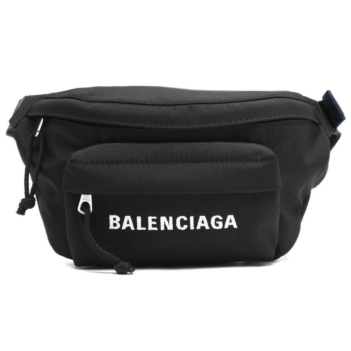 バレンシアガ ボディバッグ バッグ メンズ レディース ウィール ベルトパック S ブラック 569978 HPG1X 1090 2019年春夏新作 BALENCIAGA