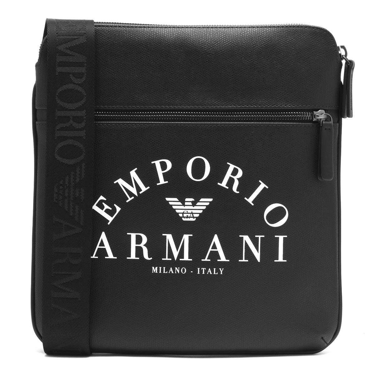エンポリオアルマーニ ショルダーバッグ バッグ メンズ イーグルマーク ブラック Y4M184 YFE5J 83896 2019年秋冬新作 EMPORIO ARMANI