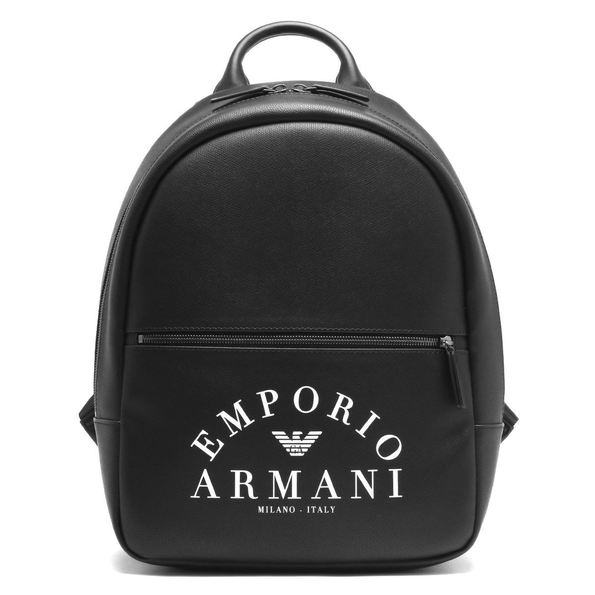 エンポリオアルマーニ リュックサック/バックパック バッグ メンズ イーグルマーク ブラック Y4O165 YFE5J 83896 2019年秋冬新作 EMPORIO ARMANI