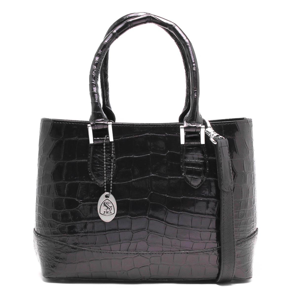 本革 ハンドバッグ/ショルダーバッグ バッグ レディース クロコ パープル&グリーン CRB312 PPGR Leather
