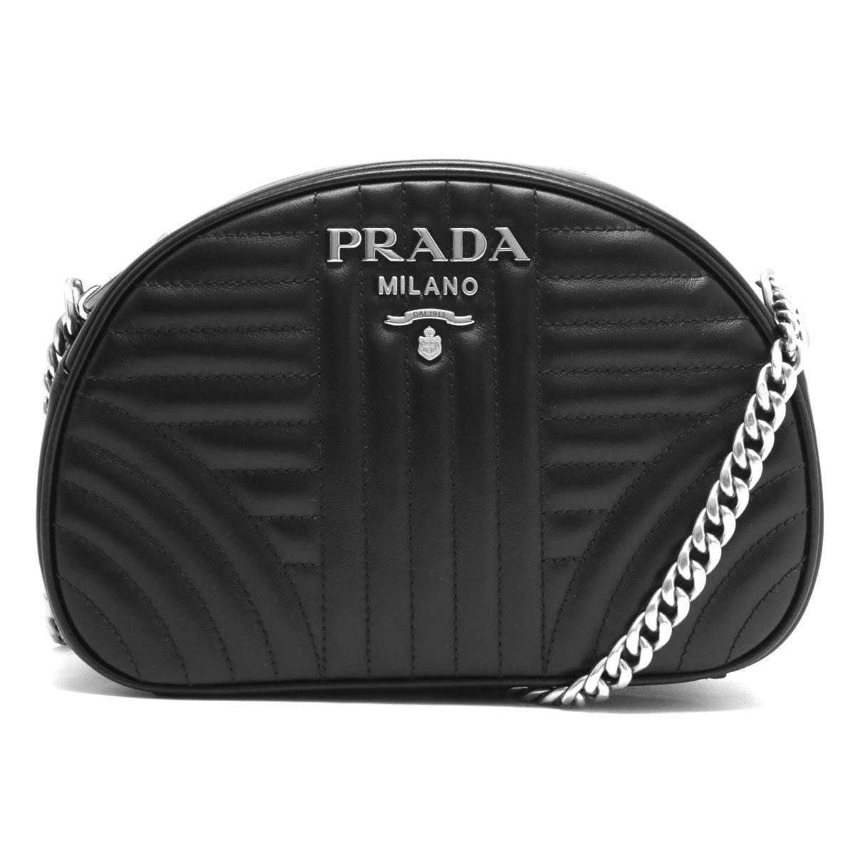 プラダ ショルダーバッグ バッグ レディース ソフトカーフ インプントゥーレ ブラック 1BH147 2D91 F0633 PRADA