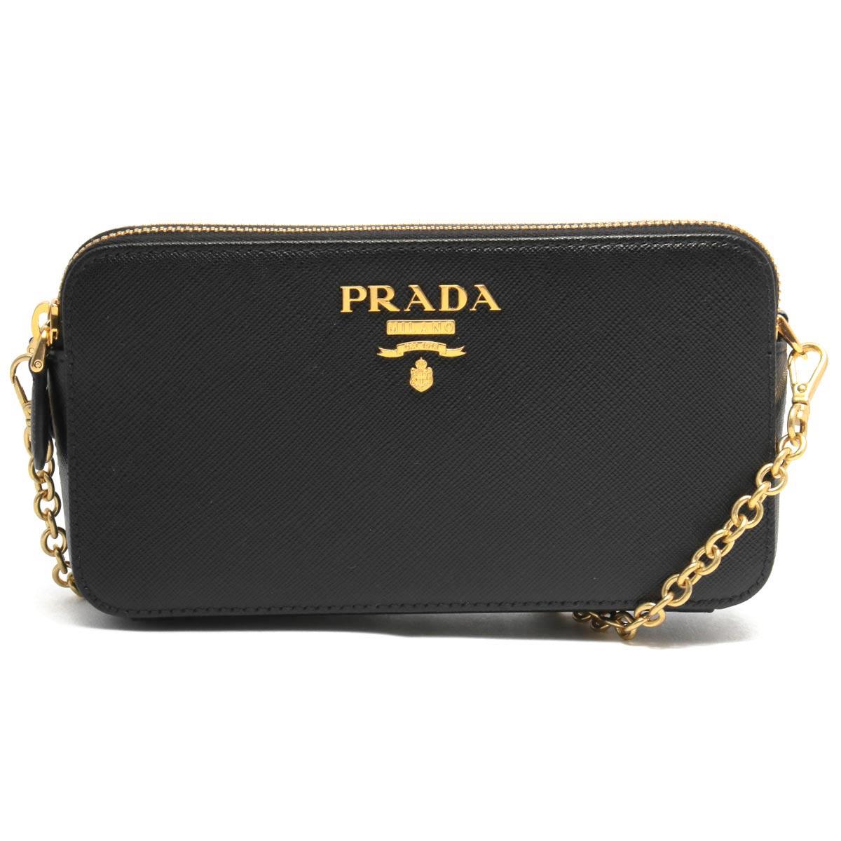 プラダ ショルダーバッグ/クラッチバッグ バッグ レディース サフィアーノ メタル ブラック 1DH010 QWA F0002 PRADA