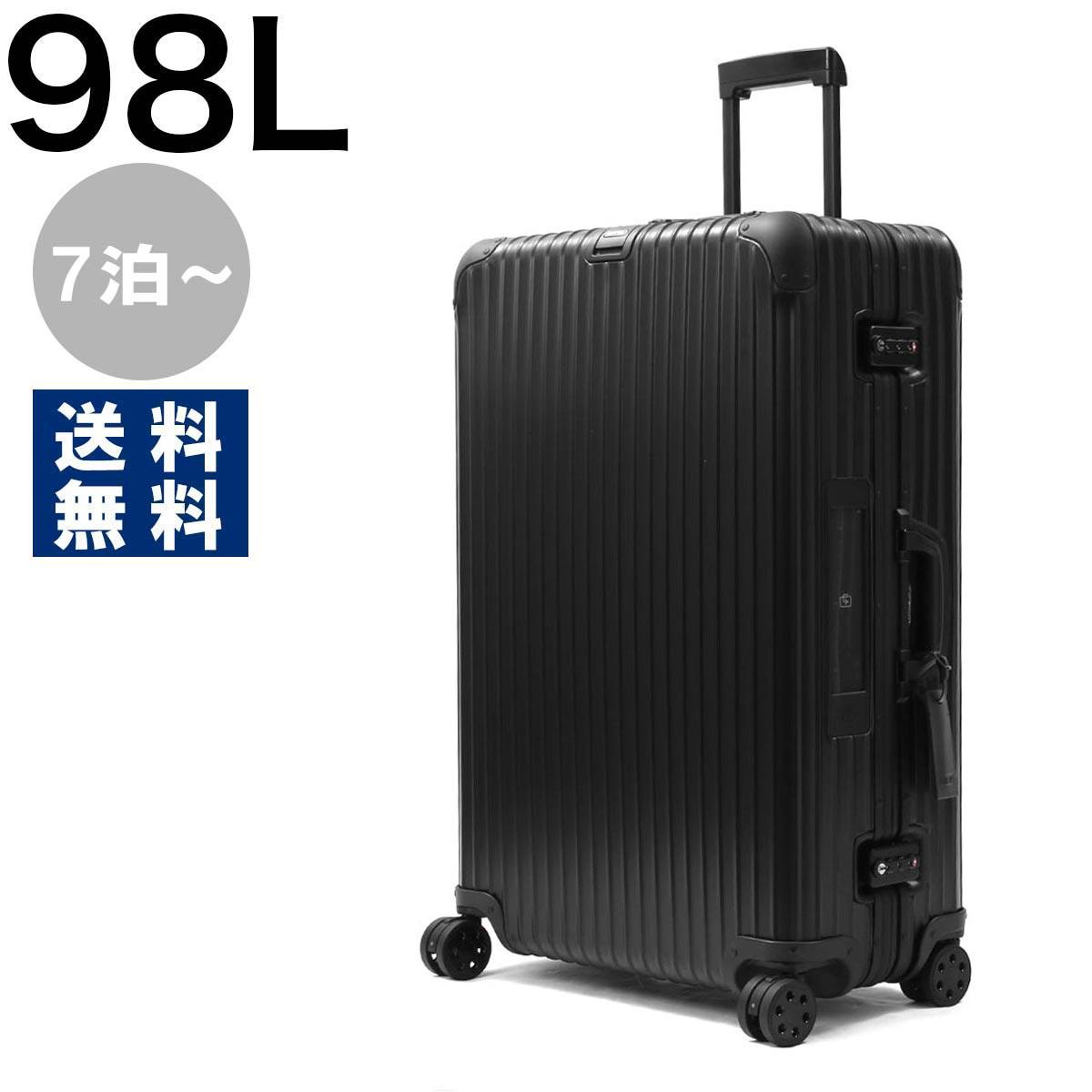 リモワ スーツケース/旅行用バッグ バッグ メンズ レディース トパーズ ステルス 98L 7泊~ ELECTRONIC TAG ブラック 923.77.01.5 RIMOWA