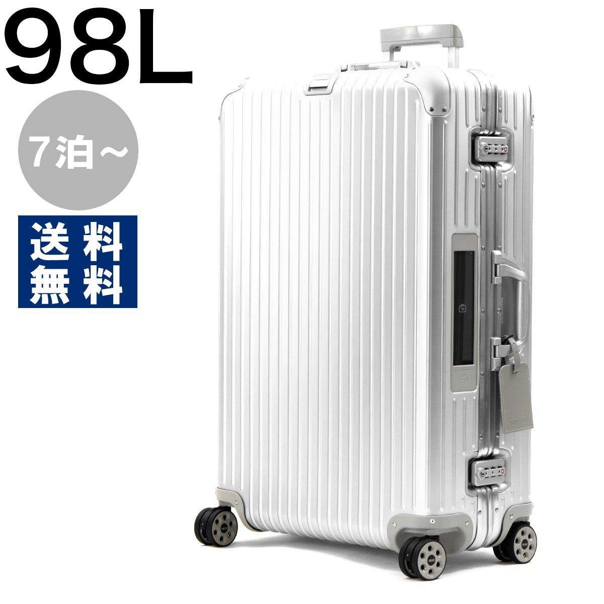 リモワ スーツケース/旅行用バッグ バッグ メンズ レディース トパーズ 98L 7泊~ ELECTRONIC TAG シルバー 92477005 RIMOWA