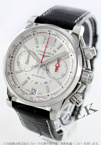 Jin Ron admiral automatic chronograph alligator leather black / silver men L3.666.4.76.2