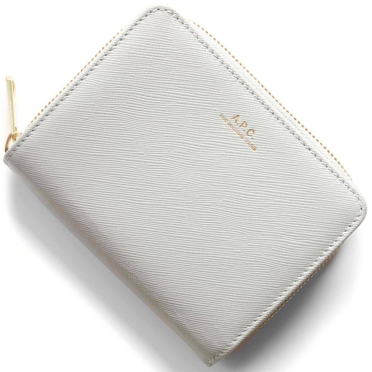 アーペーセー 二つ折り財布 財布 メンズ レディース エマニュエル グリスグレー F63029 PXBJQ LAB A.P.C