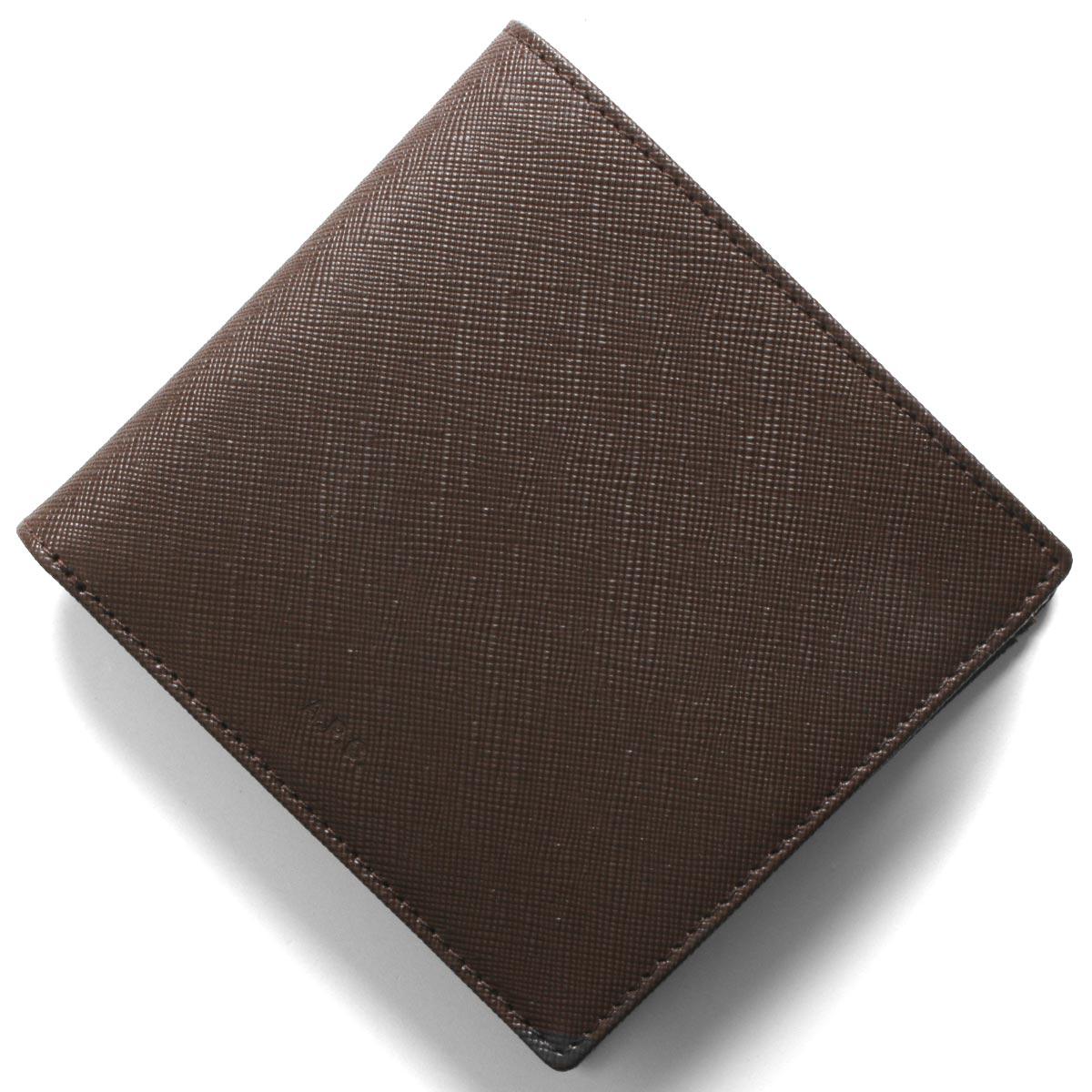 アーペーセー 二つ折り財布 財布 メンズ ニュー ポルトフイユ ロンドン カフェブラウン H63340 PXBJQ CAI A.P.C