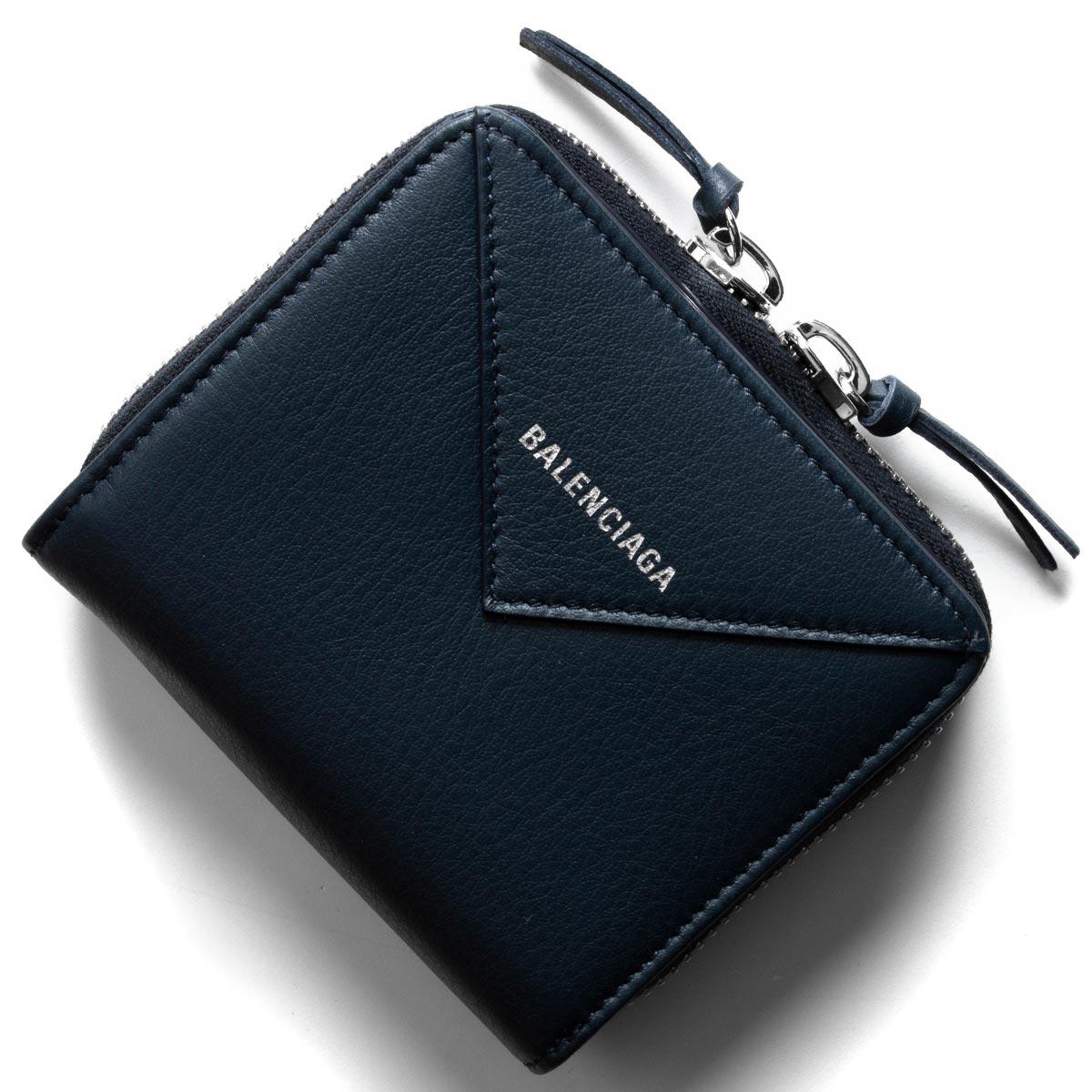 バレンシアガ 二つ折り財布 財布 レディース ペーパー ビルフォールド ブループロフォン 371662 DLQ0N 4222 BALENCIAGA