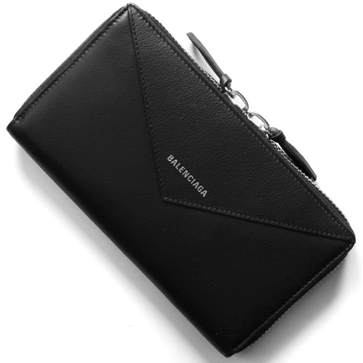 バレンシアガ 長財布 財布 レディース ペーパー ブラック 381226 DLQ0N 1000 BALENCIAGA