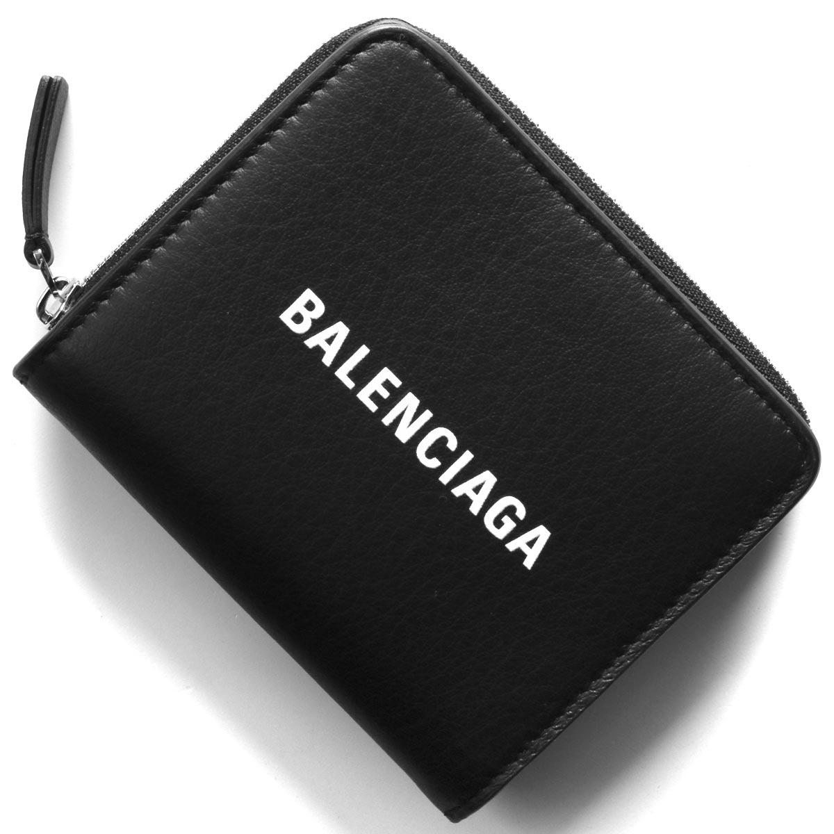 バレンシアガ 二つ折り財布 財布 レディース エブリディ ビルフォールド ブラック 551933 DLQ4N 1000 BALENCIAGA