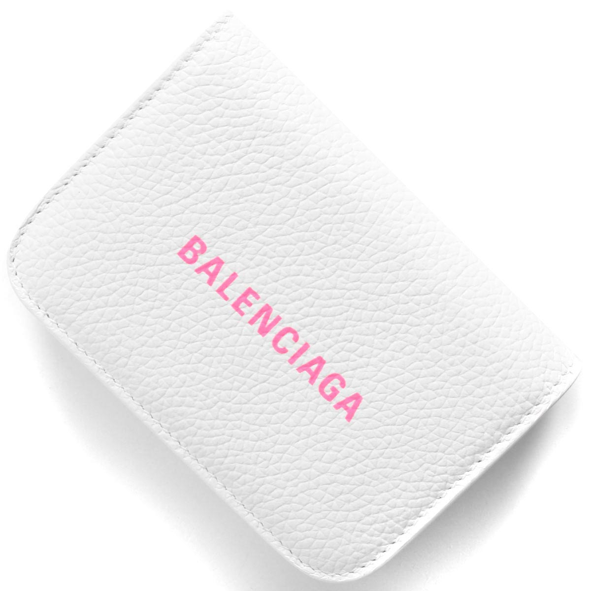 バレンシアガ 三つ折り財布/ミニ財布 財布 レディース キャッシュ ブランホワイト&フルアピンク 593813 1IZF3 9066 2020年春夏新作 BALENCIAGA
