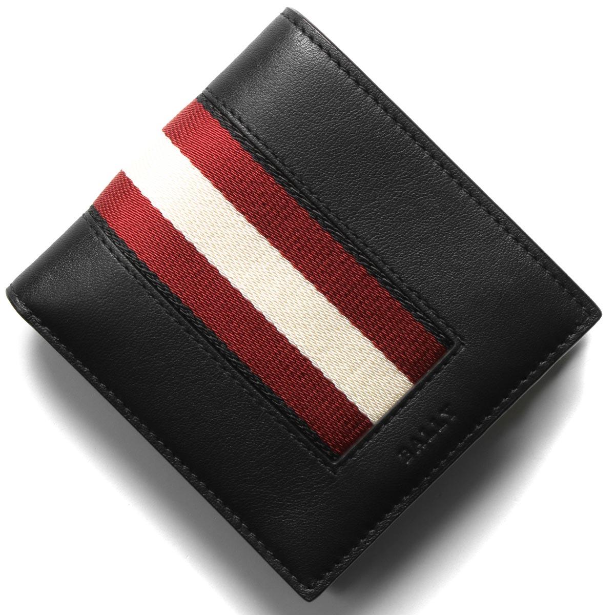 バリー 二つ折り財布 財布 メンズ ベイセル ブラック BEISEL HP 100 6231972 BALLY