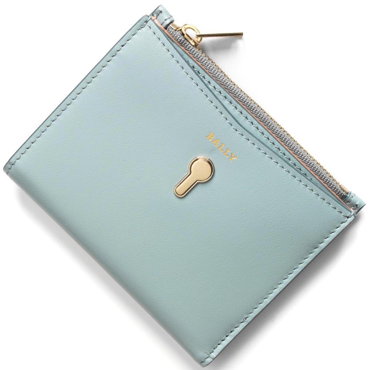 バリー 二つ折り財布 財布 レディース コーガン オパールライトブルー COGAN W 37 6226883 BALLY