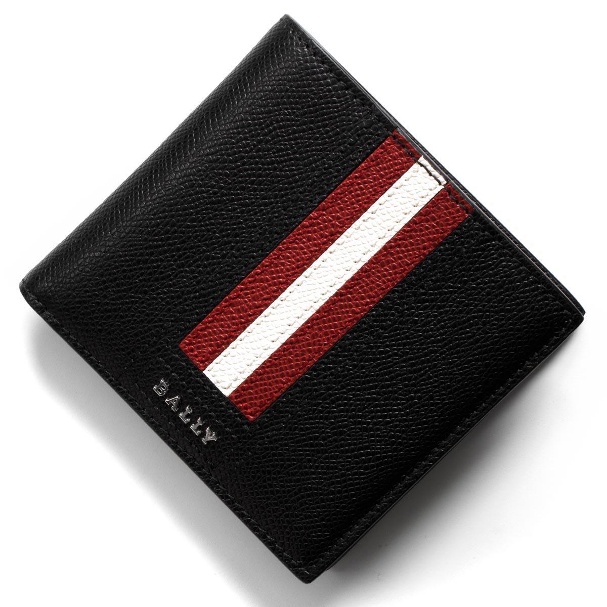 バリー 二つ折り財布 財布 メンズ テイゼル ブラック TEISEL LT 110 6219664 BALLY