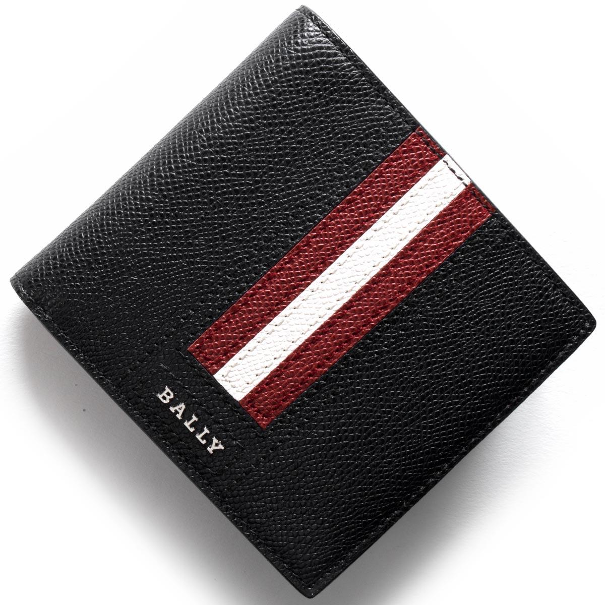 【1,000円OFFクーポン対象】バリー 二つ折り財布 財布 メンズ テイゼル TEISEL ブラック TEISELLT 210 6219953 BALLY