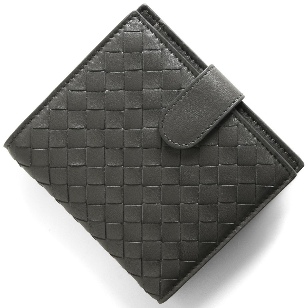 ボッテガヴェネタ (ボッテガ・ヴェネタ) 二つ折り財布 財布 メンズ レディース イントレチャート ニューライトグレー 121059 V001N 8522 BOTTEGA VENETA