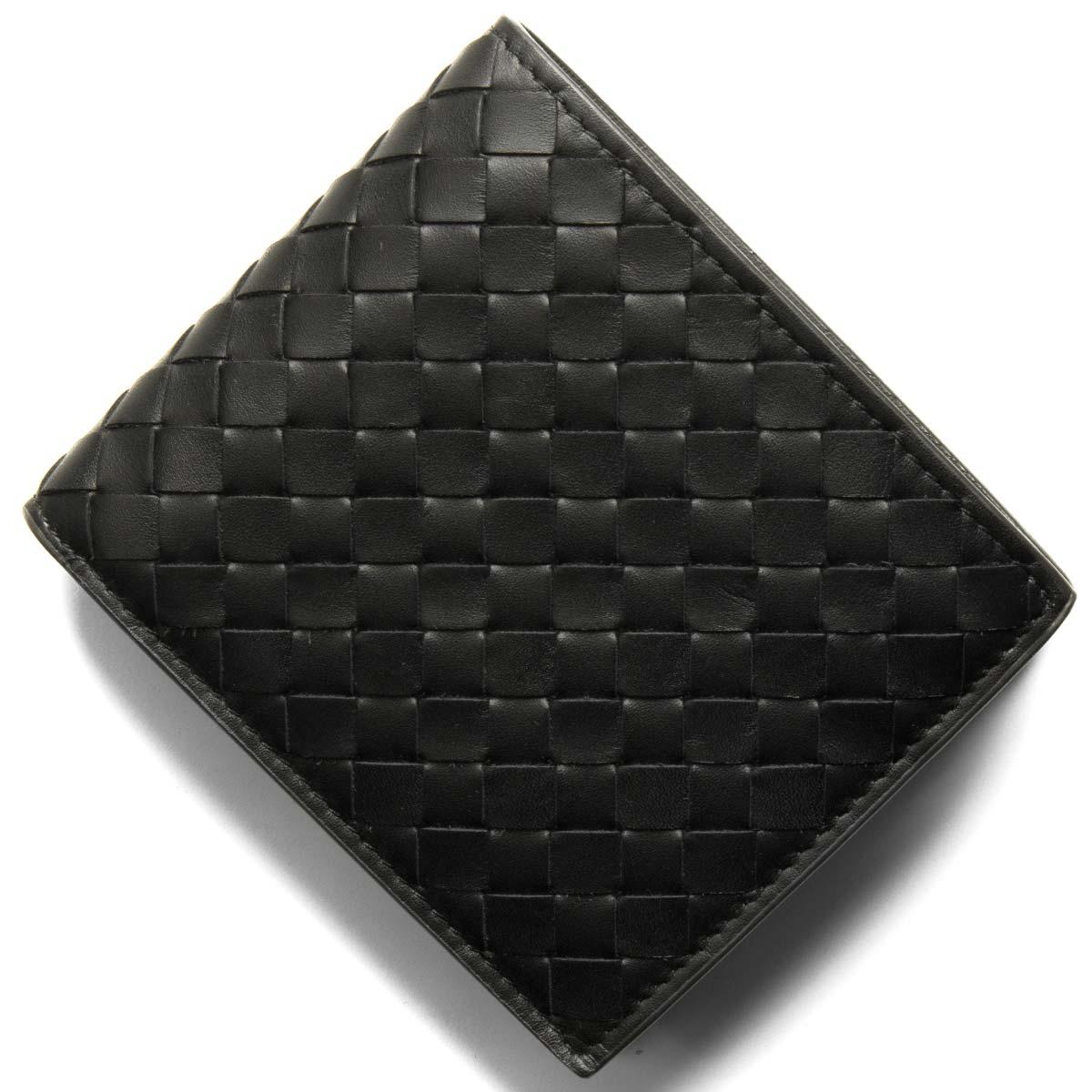 ボッテガヴェネタ (ボッテガ・ヴェネタ) 二つ折り財布 財布 メンズ イントレチャート ブラック&ニューライトグレー 193642 V465U 8885 BOTTEGA VENETA