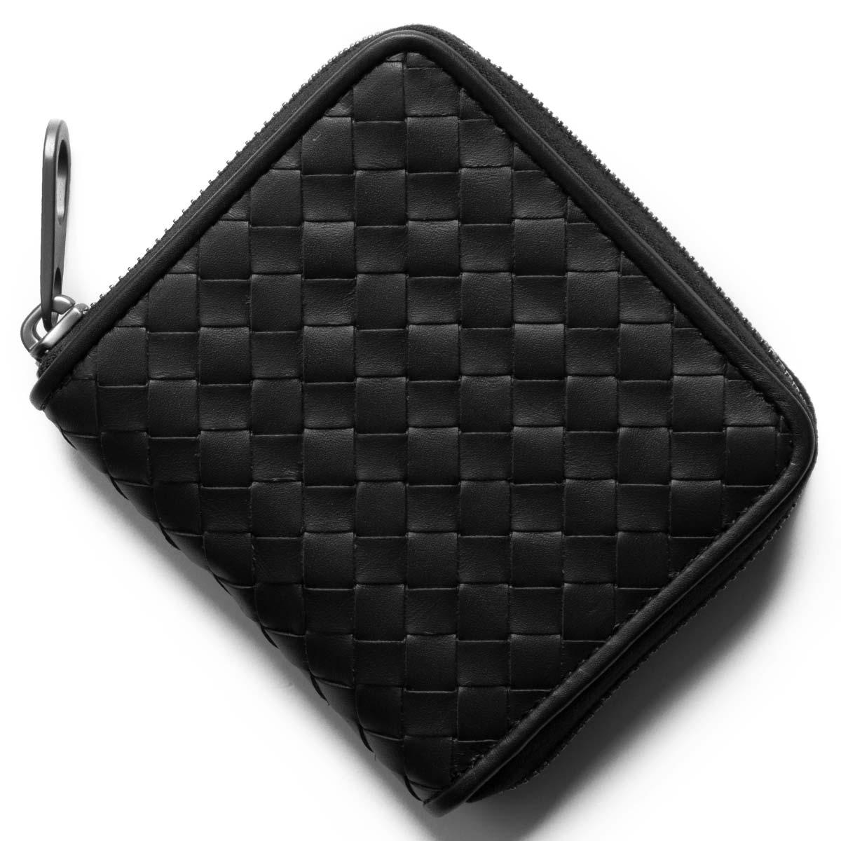 ボッテガヴェネタ (ボッテガ・ヴェネタ) 二つ折り財布 財布 メンズ イントレチャート ブラック 510293 V4651 1000 BOTTEGA VENETA