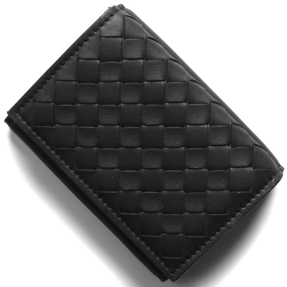 ボッテガヴェネタ (ボッテガ・ヴェネタ) 三つ折り財布/ミニ財布 財布 メンズ イントレチャート ナッパ ブラック&ニューライトグレー 515385 VO0B2 8885 BOTTEGA VENETA