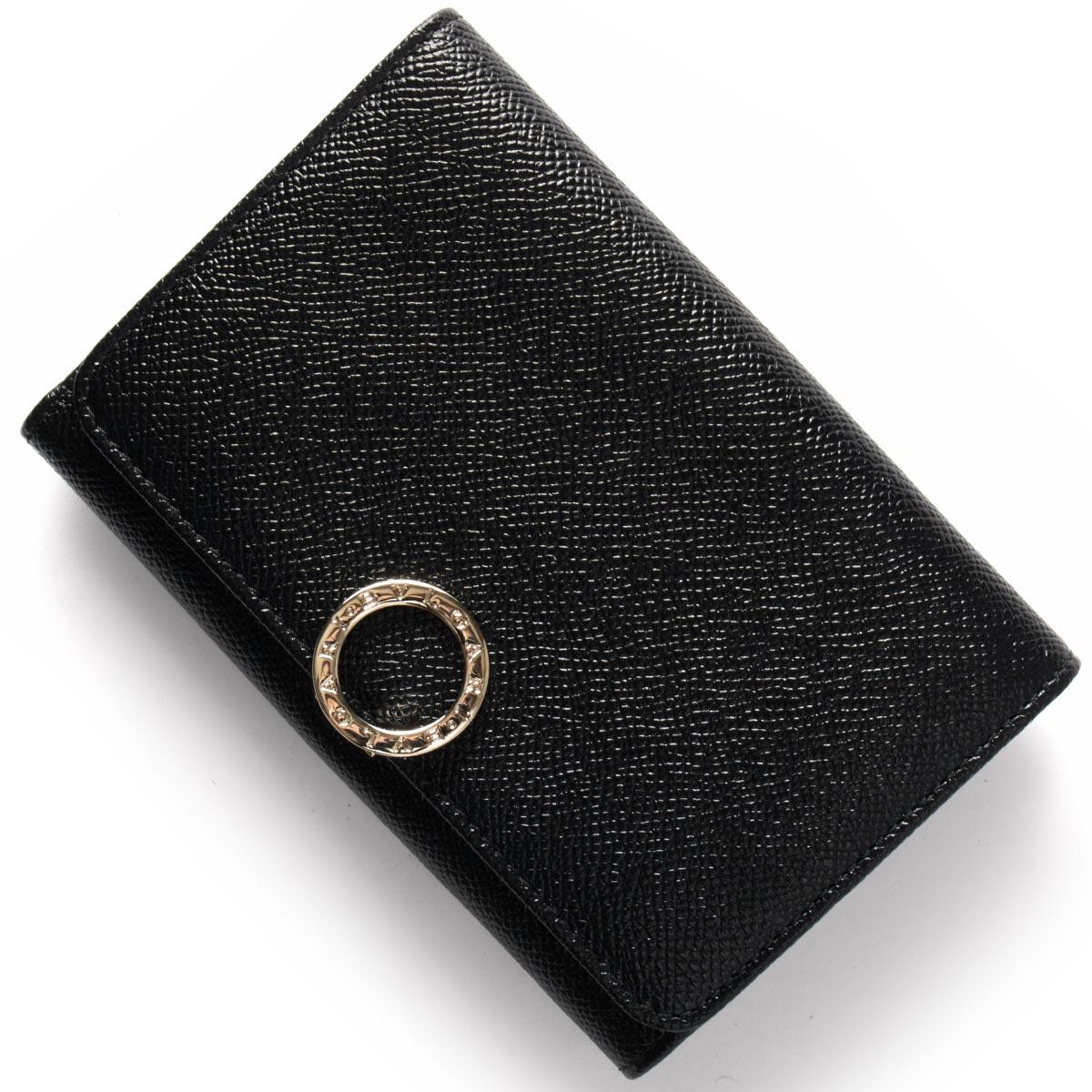 【1,000円OFFクーポン対象】ブルガリ 二つ折り財布 財布 レディース ブルガリブルガリ BB ブラック 280555 BVLGARI