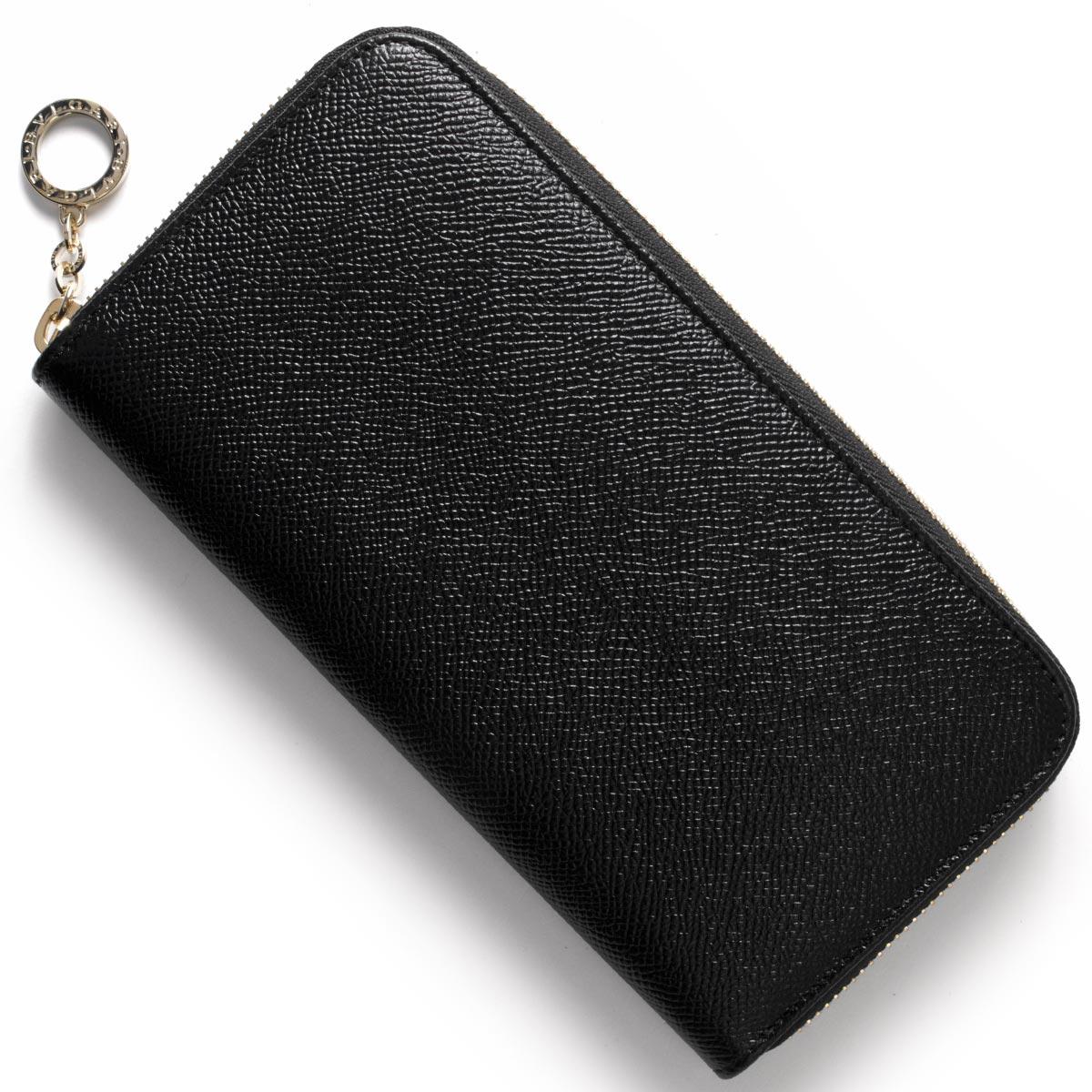 ブルガリ 長財布 財布 メンズ レディース ブルガリブルガリ レザー ラウンドファスナー ブラック 280561 BVLGARI