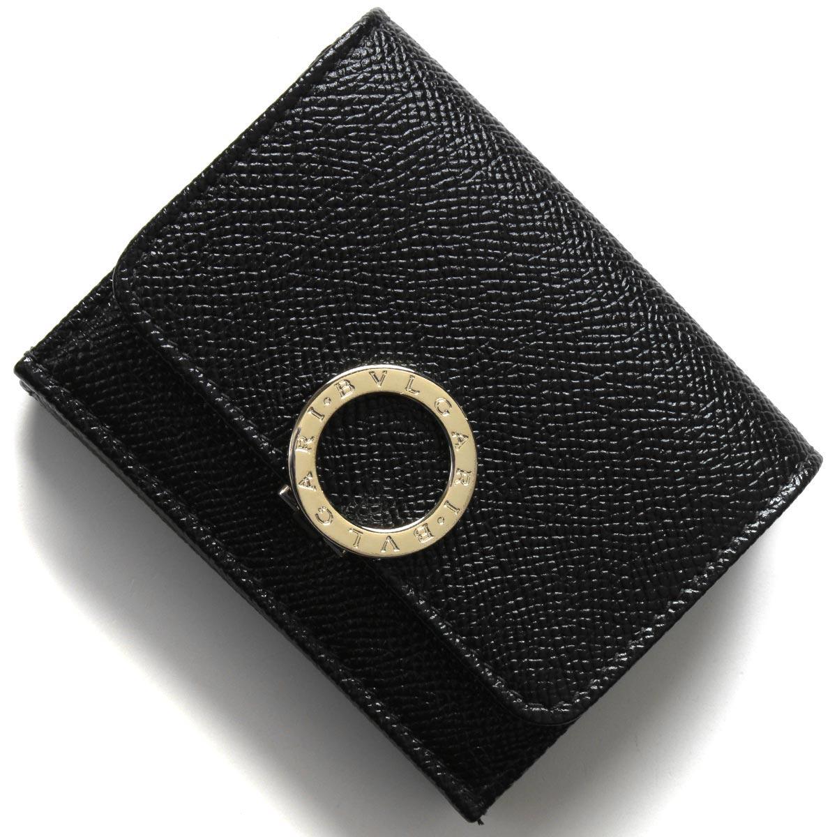 ブルガリ 三つ折り財布 財布 メンズ レディース ブルガリブルガリ ブラック 288648 2020年春夏新作 BVLGARI