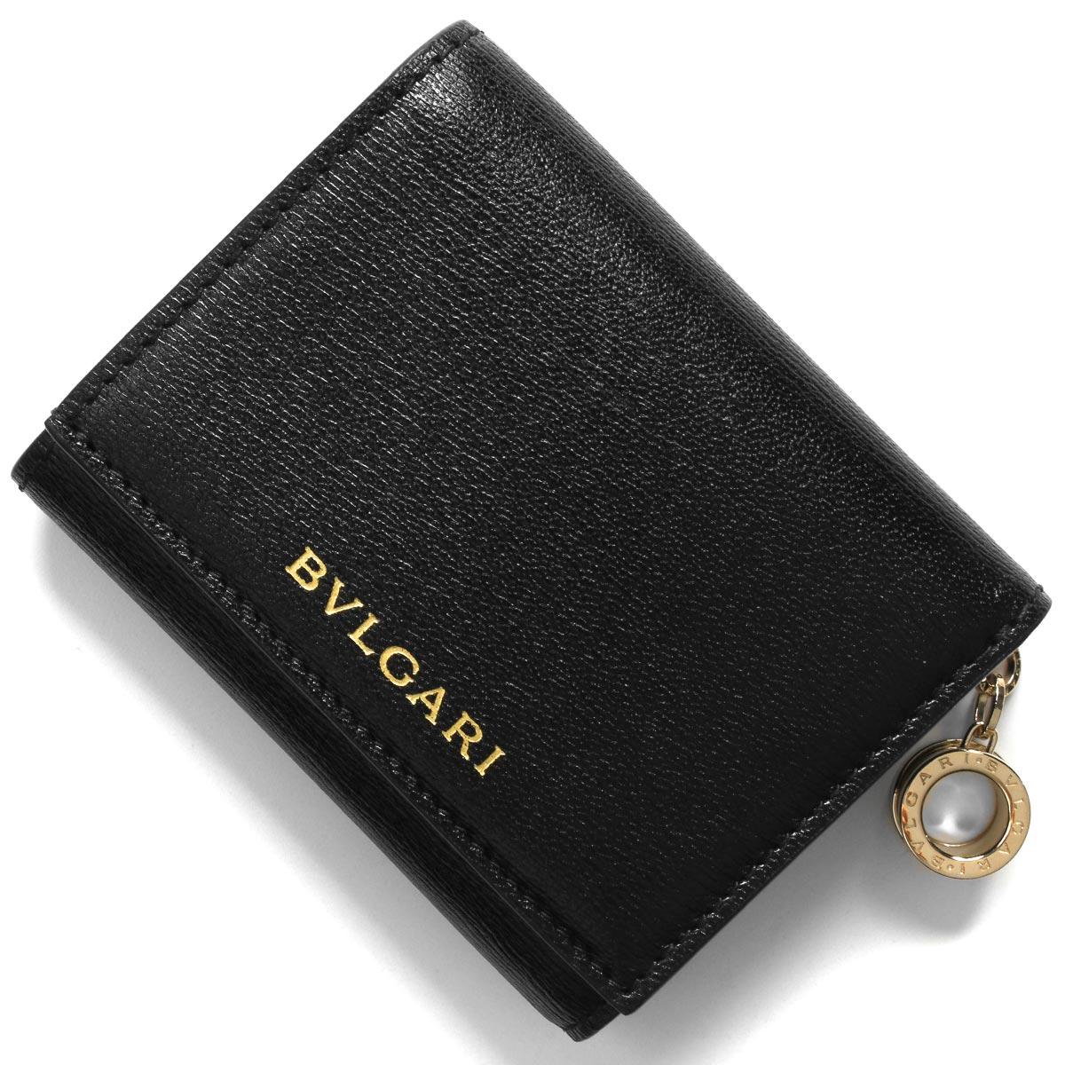 ブルガリ 三つ折り財布/ミニ財布 財布 レディース ビー ゼロワン ブラック 289145 2020年春夏新作 BVLGARI
