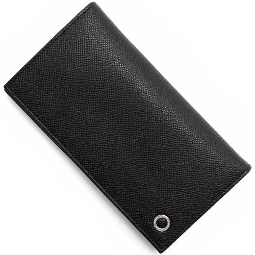 ブルガリ 長財布 財布 メンズ ブルガリブルガリ マン レザー ブラック 30398 BVLGARI