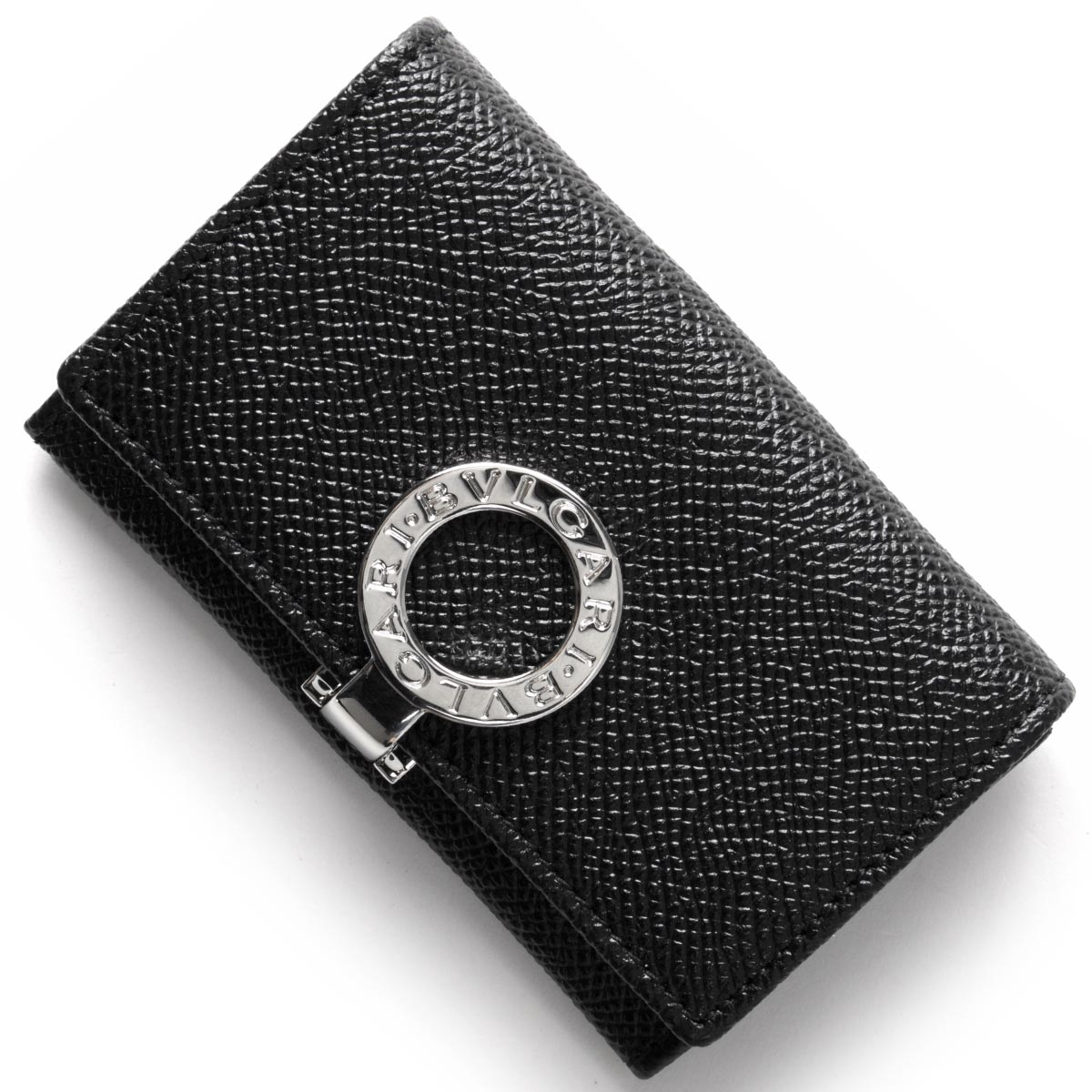 ブルガリ コインケース【小銭入れ】 財布 メンズ ブルガリブルガリ レザー ブラック 33749 BVLGARI