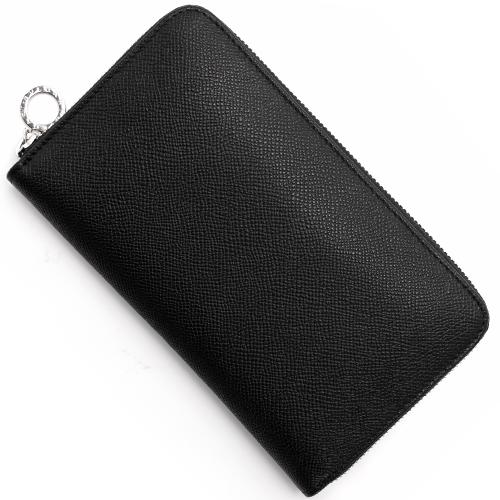 ブルガリ 長財布 財布 メンズ ブルガリブルガリ レザー ラウンドファスナー ブラック 36933 BVLGARI
