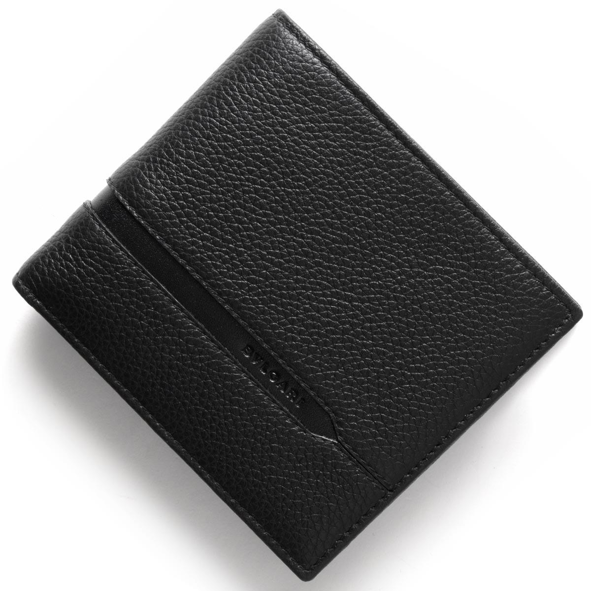 ブルガリ 二つ折り財布 財布 メンズ オクト OCTO ブラック 36964 BVLGARI