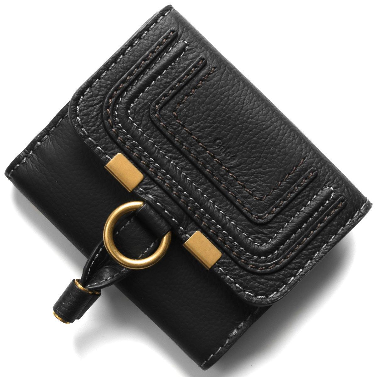 クロエ 二つ折り財布 財布 レディース マーシー ブラック CHC10UP572 161 001 CHLOE