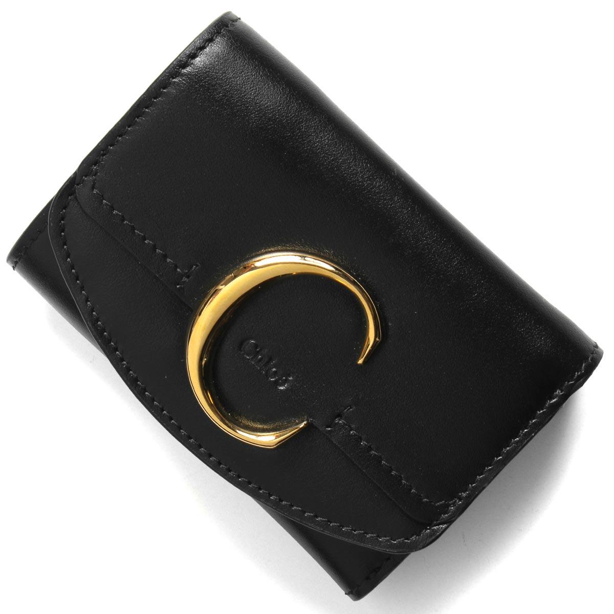 クロエ 三つ折り財布/ミニ財布 財布 レディース クロエ シー ブラック CHC19UP058 A37 001 CHLOE