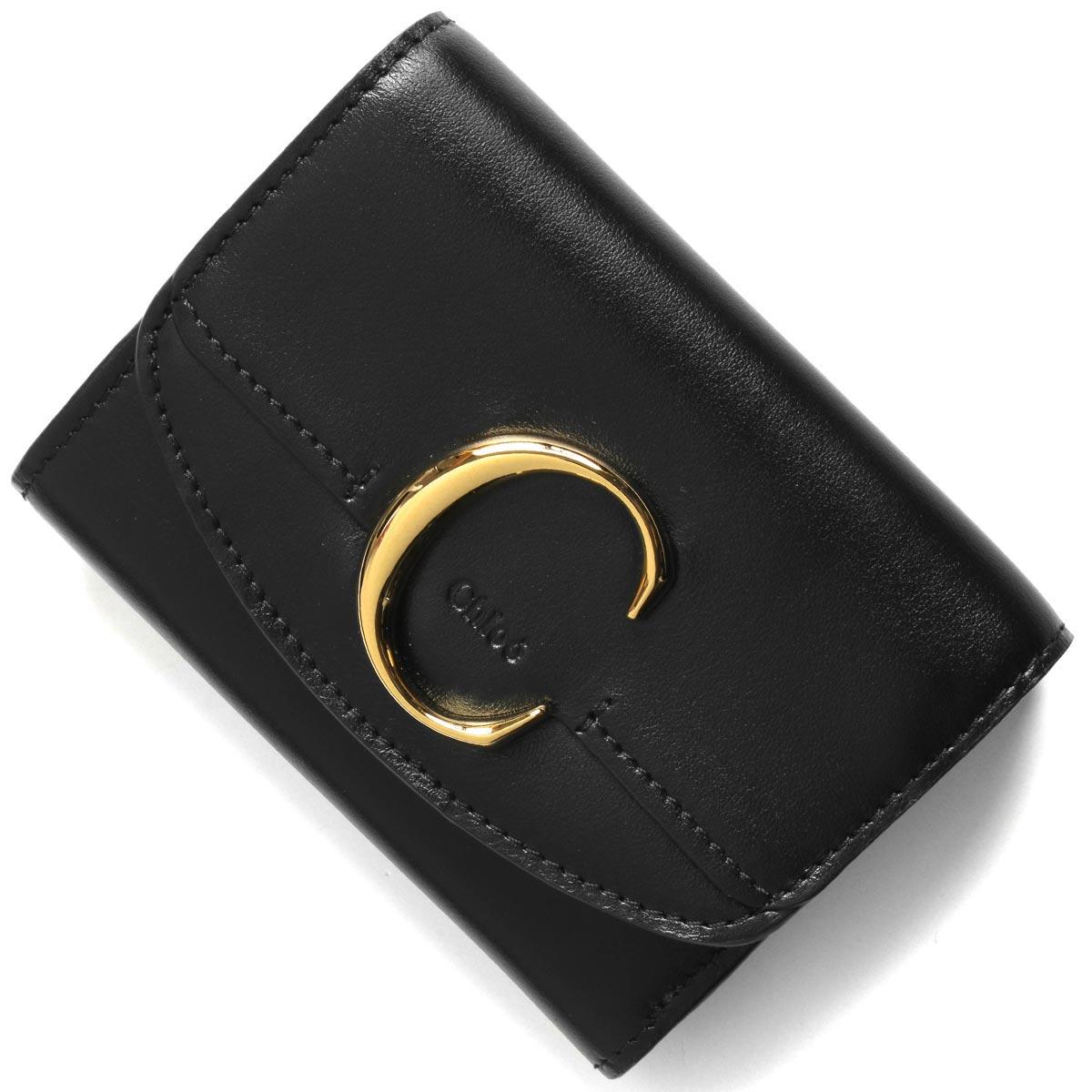 クロエ 三つ折り財布 財布 レディース クロエ シー ブラック CHC19WP088 A37 001 CHLOE