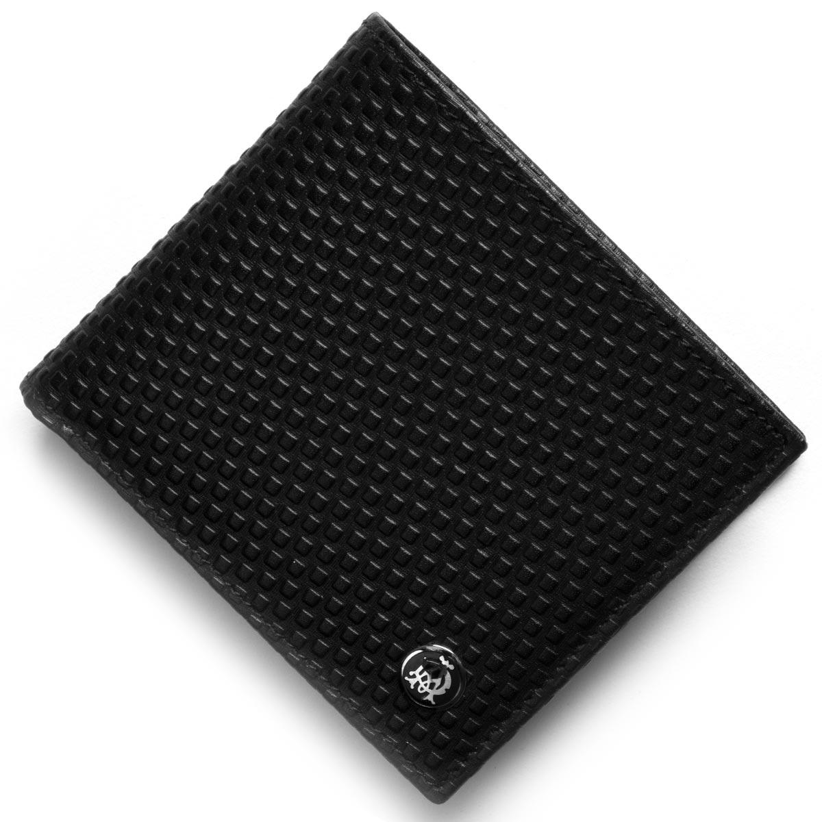 ダンヒル 二つ折り財布 財布 メンズ マイクロ ディーエイト D-EIGHT ブラック L2V332A A DUNHILL