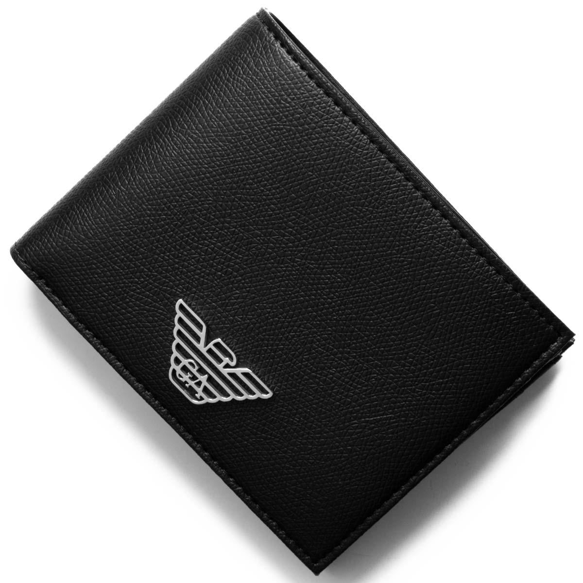 あす楽送料無料 売り込み エンポリオアルマーニ 二つ折り財布 財布 メンズ イーグルマーク Y4R165 EMPORIO 81072 販売期間 限定のお得なタイムセール ARMANI YLA0E ブラック