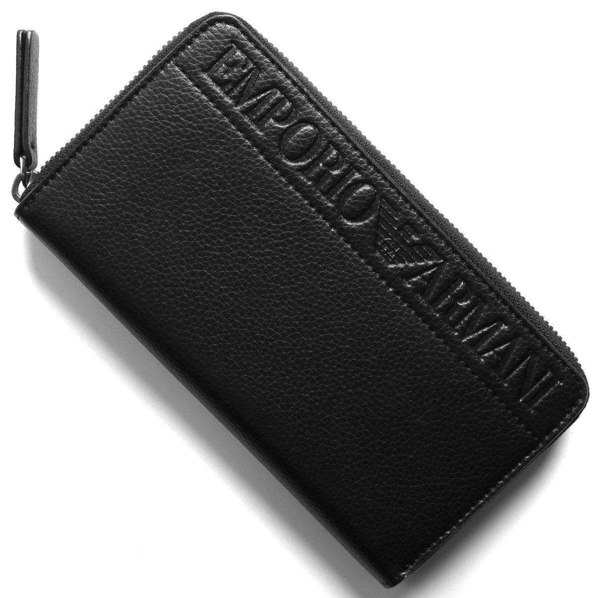 エンポリオアルマーニ 長財布 財布 メンズ イーグルマーク ブラック YEME49 YSL5J 81072 EMPORIO ARMANI