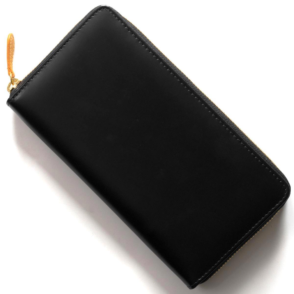 エッティンガー 長財布 財布 メンズ ブライドル ブラック&パネルハイドイエロー 2051EJR BH BLACK ETTINGER