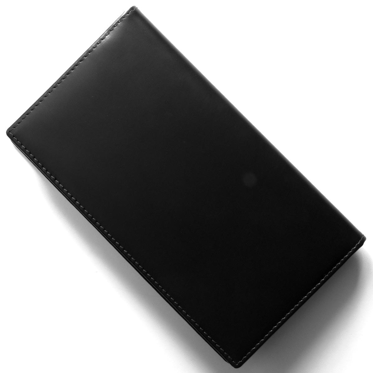 エッティンガー 長財布【札入れ】 財布 メンズ ブライドル ブラック&パネルハイドイエロー 806AJR BH BLACK ETTINGER