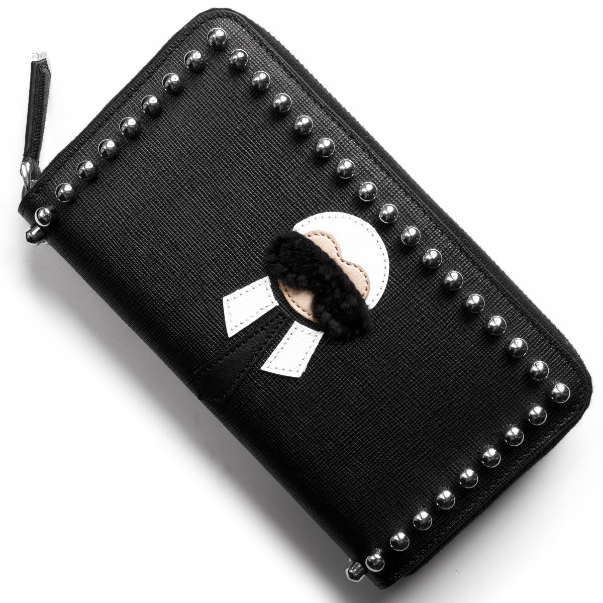 フェンディ 長財布 財布 レディース カーリト ブラック 8M0299 7MP F0V3X FENDI
