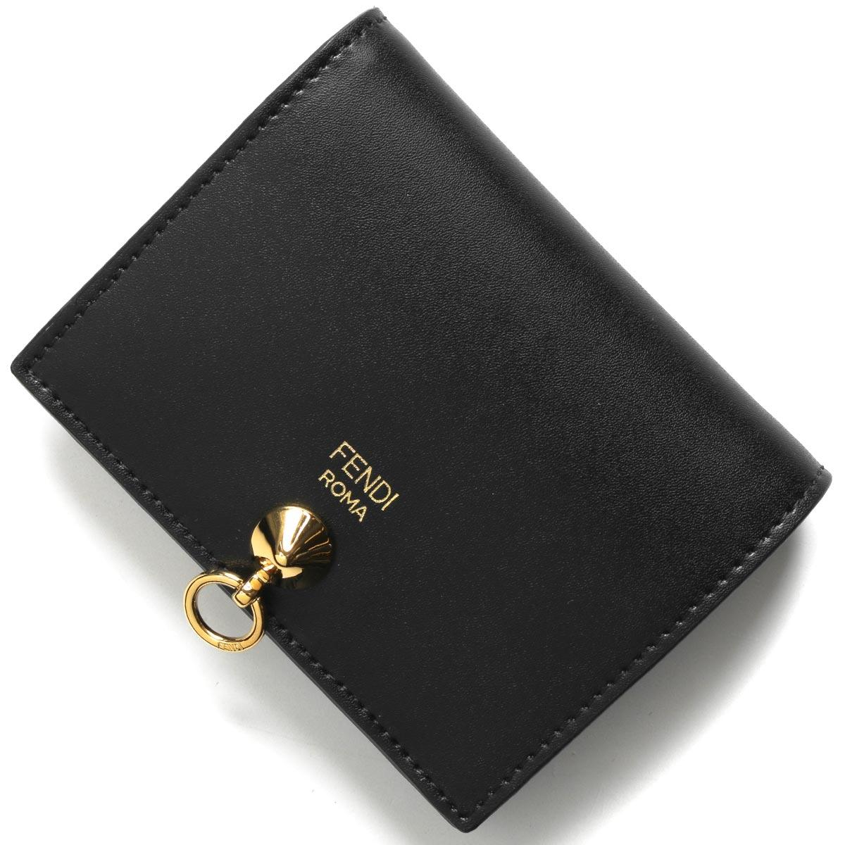 フェンディ 二つ折り財布 財布 レディース バイザウェイ ブラック&オーロソフト 8M0387 SME F0KUR FENDI