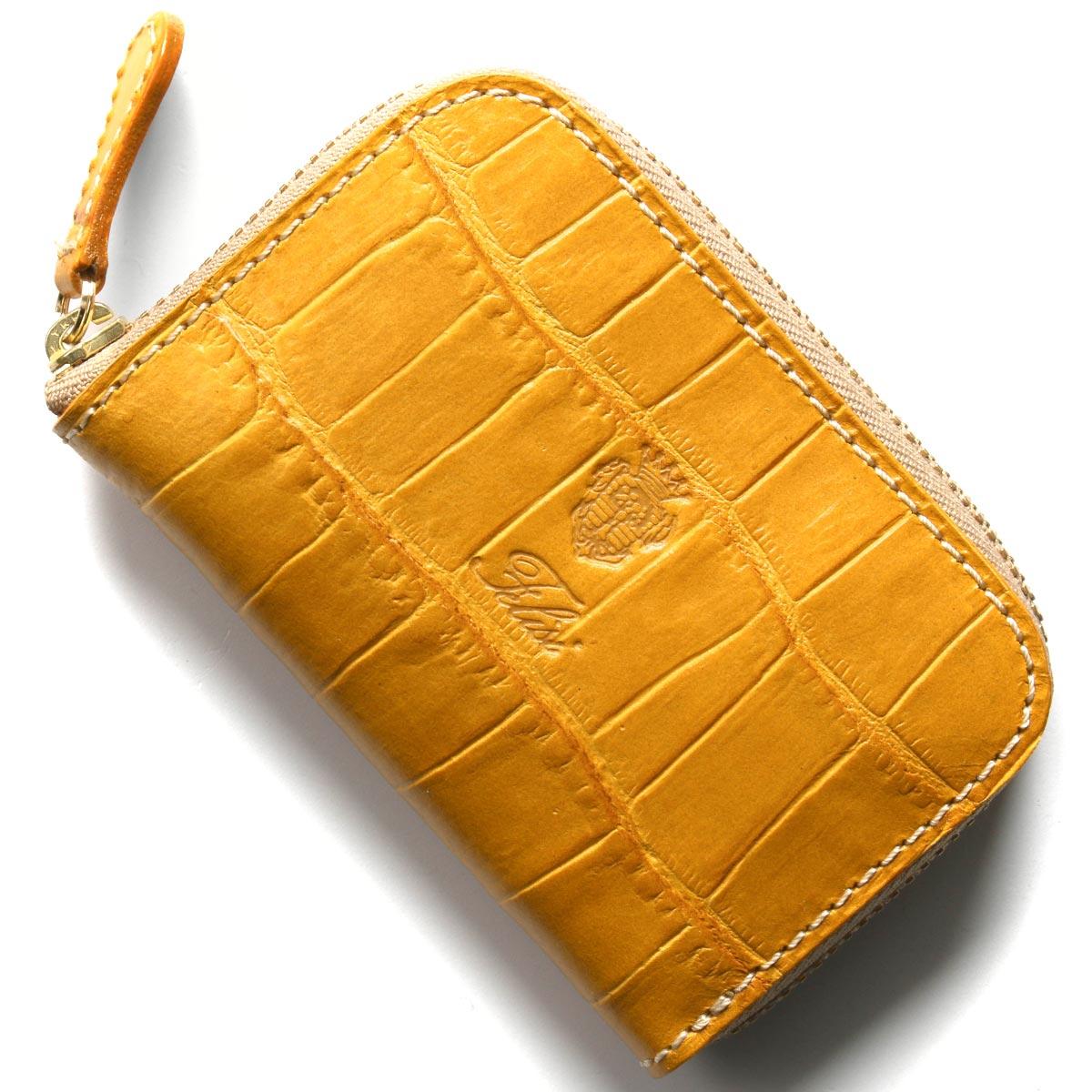 フェリージ コインケース【小銭入れ】 財布 メンズ クロコ型押し ジャッロイエロー 166 SA 0007 FELISI