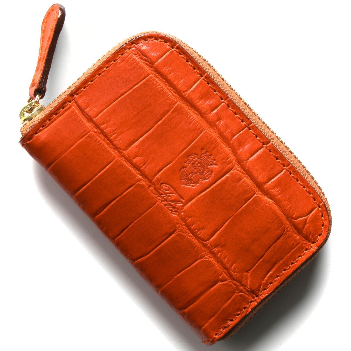フェリージ コインケース【小銭入れ】 財布 メンズ クロコ型押し アランチョオレンジ 166 SA 0009 FELISI