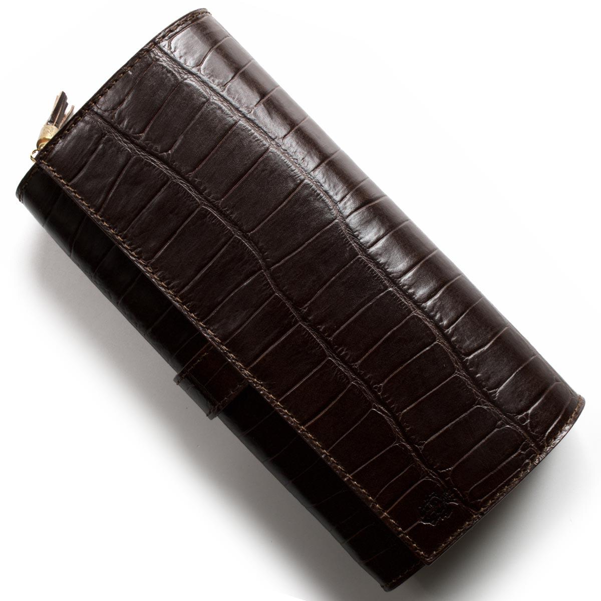 フェリージ 長財布 財布 メンズ レディース クロコ型押し モロダークブラウン 3005 SA 0002 FELISI