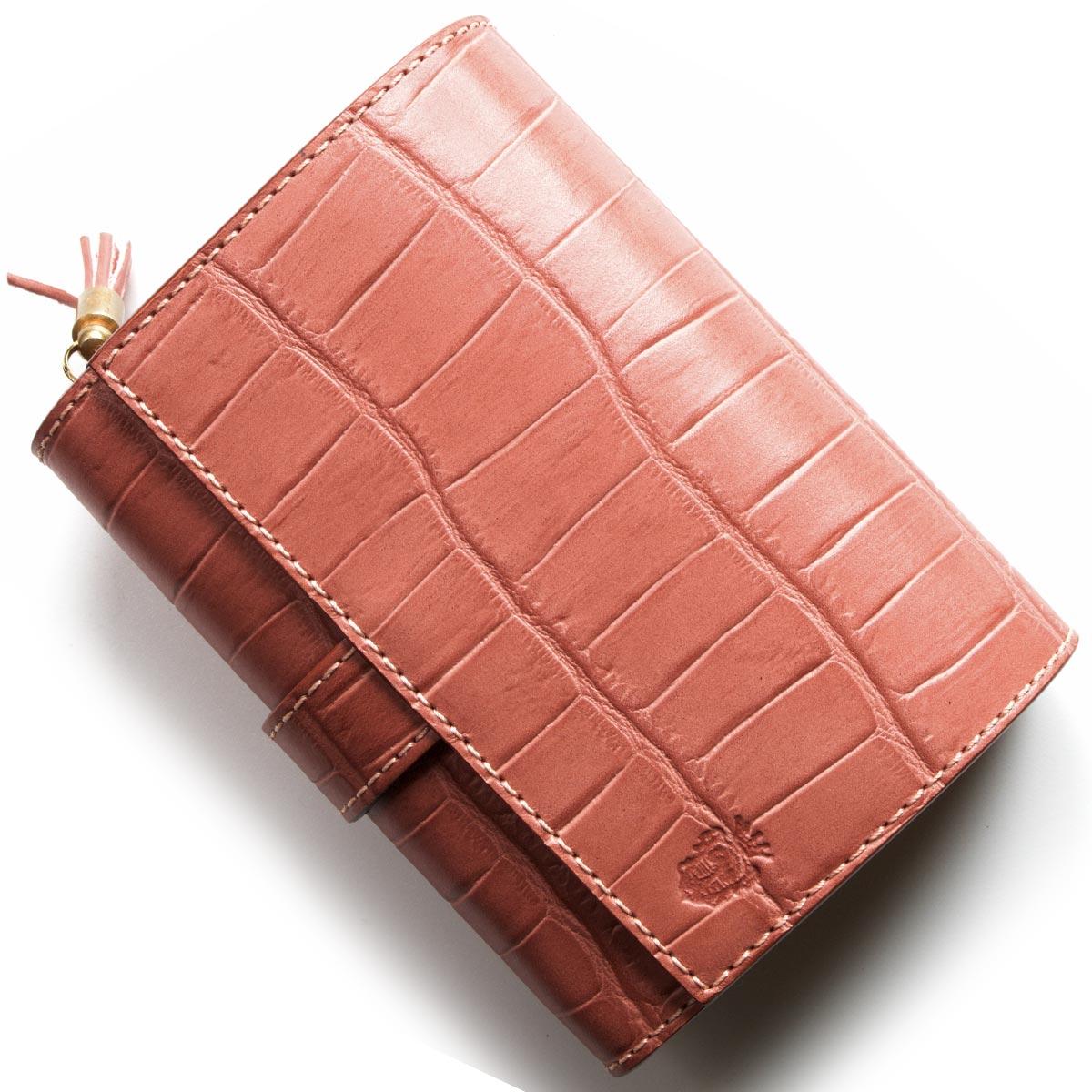 フェリージ 二つ折り財布 財布 レディース クロコ型押し ローザアンティークピンク 3500 SA 0019 FELISI