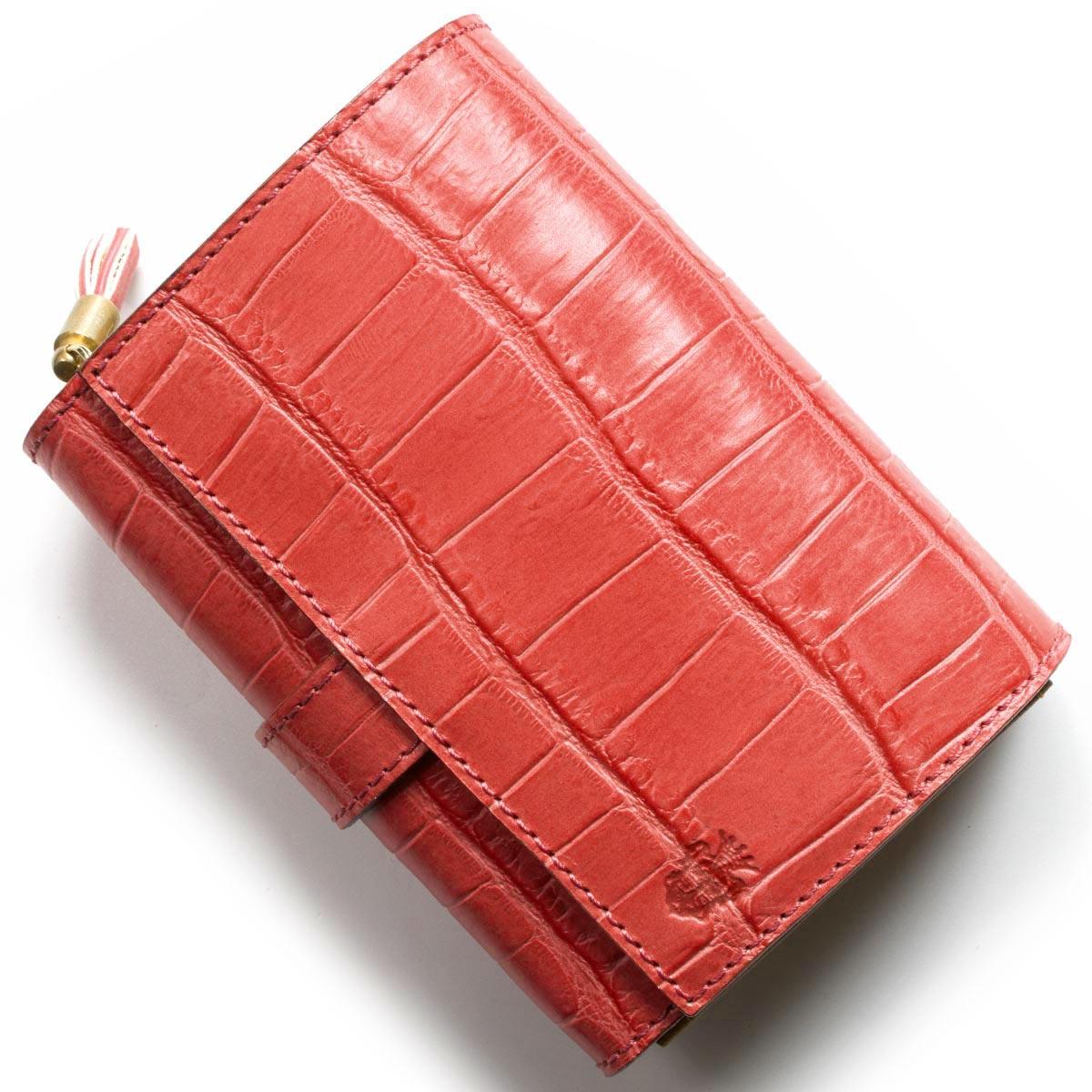 フェリージ 二つ折り財布 財布 レディース クロコ型押し フクシアピンク 3500 SA 0031 FELISI
